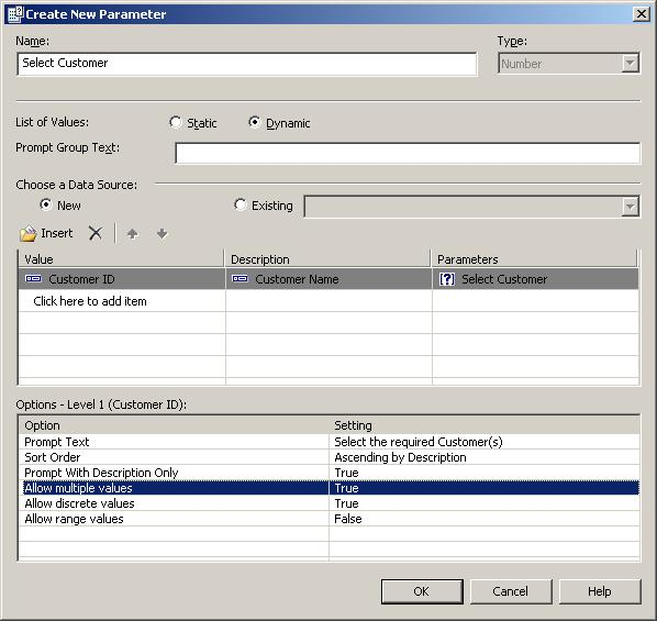 Create Customer Dynamic Parameter Field